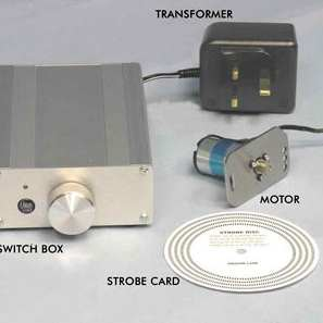Record player motor kit including power supply and transformer