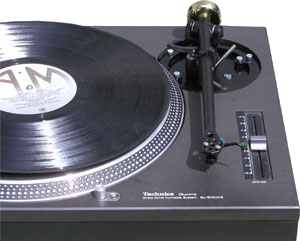 Technics Turntable Black